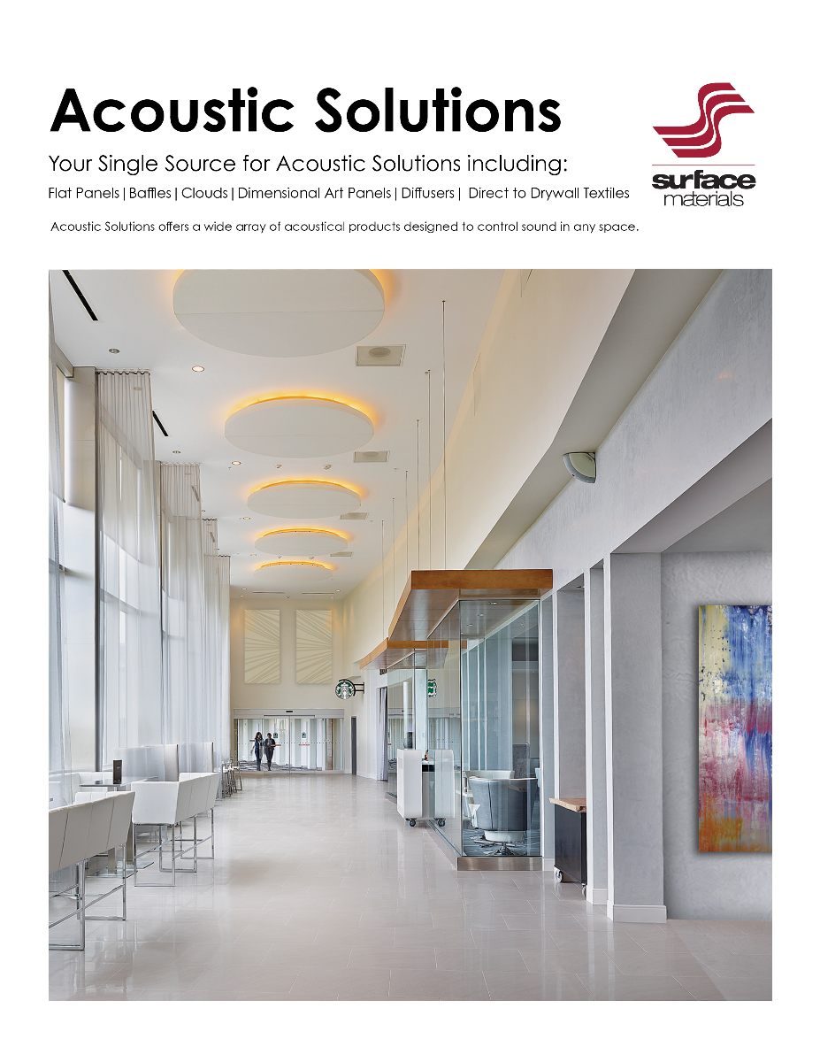 Main Page of Acoustic Solutions Brochure