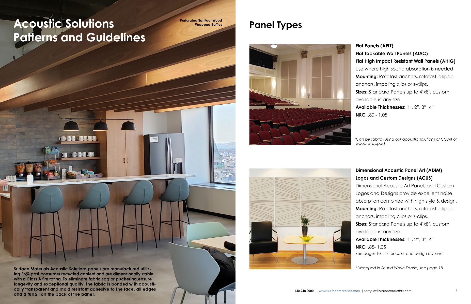 Second Page of Acoustic Solutions Brochure