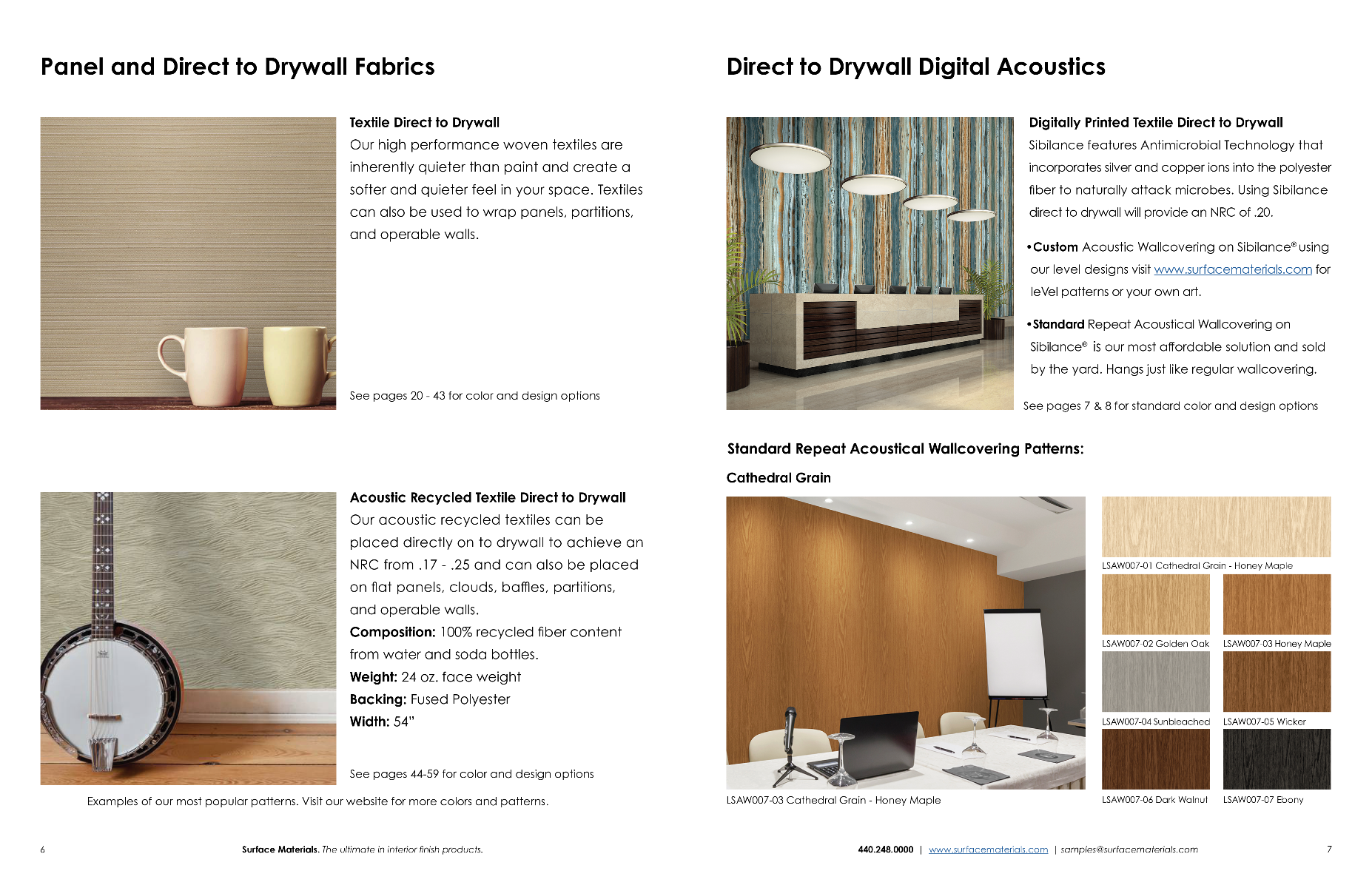Fourth Page of Acoustic Solutions Brochure
