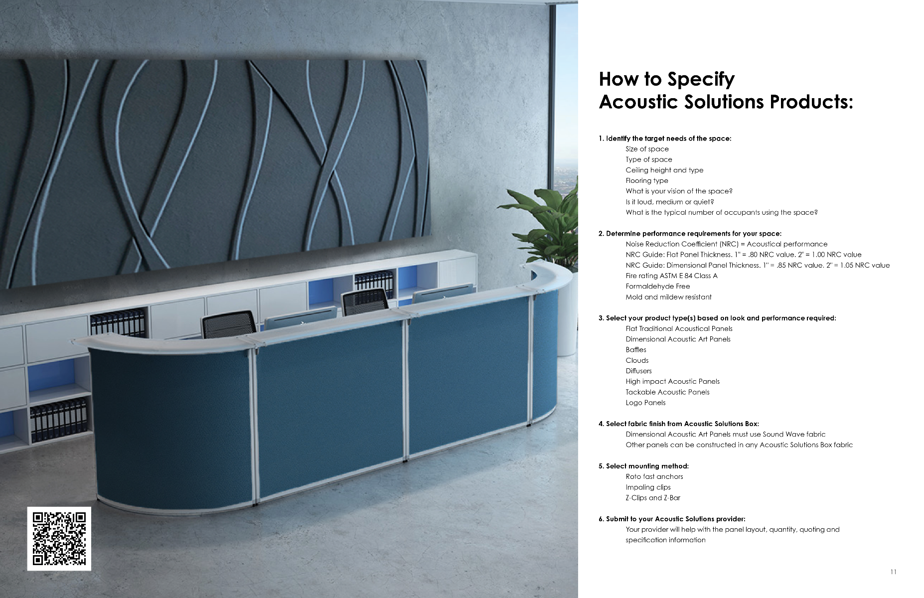 Sixth Page of Acoustic Solutions Brochure